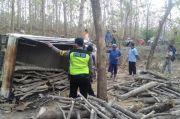 Mobil Pikap di Rembang Ini Jalan Sendiri, Pengemudi Tewas Tertimpa