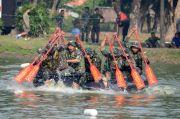 Prajurit Brigif 2 Marinir Bersaing Ketat di Lomba Dayung Batalyon Unggul