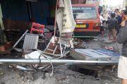 Mabuk Ginseng, Sopir Angkot Tabrak Warung Kelontong