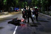 Mobil Polrestabes Surabaya Tiba, Pelanggar Semburat