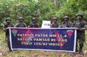 Jaga Kedaulatan, Satgas Yonif 125/Simbisa Gelar Patroli Patok Batas RI-PNG