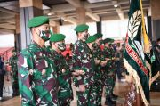 Jenderal Andika Pimpin Serah Terima Jabatan 7 Perwira Tinggi TNI AD