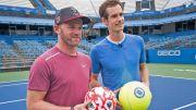 Serunya Wayne Rooney dan Andy Murray Mainkan Sepak Bola-Tenis