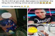 Miris, Video Ayah Aniaya Anak Sendiri Viral di Manado