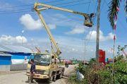 Lampu Jalan Sudah Terpasang di Lokasi Pengungsian Meli Lutra