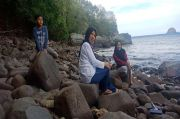 Pantai Benteng di Batu Putih Kota Bitung Ramai Pengunjung