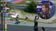 Wajah Rossi Pucat Lihat Motor Morbidelli Terbelah dalam Kecelakaan