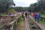 Curah Hujan Tinggi, Jembatan di Jalinbar Bengkulu Putus