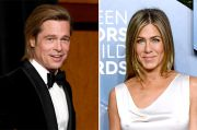 Terlibat Proyek Bersama, Reuni Jennifer Aniston-Brad Pitt Bakal Disiarkan Live di Medsos