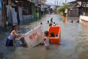Lagi, Banjir Rob Rendam Ribuan Rumah di Belawan