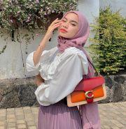 OOTD Pake Warna Ungu Lilac yang lagi Hits, Cocok buat Hijabers!