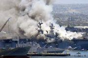 Kapal Perang AS Sengaja Dibakar, Seorang Pelaut Jadi Tersangka