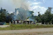 Ratusan Massa Mengamuk Rusak dan Bakar Kantor BKD Mamberamo Raya Papua