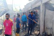 Pasar Perumnas Terbakar, Puluhan Kios dan Tiga Rumah Hangus