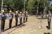 Perhutani Gelar Apel Pengendalian Kebakaran Hutan di Lereng Gunung Lawu
