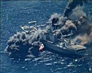 Ditembak 4 Rudal Anti-Kapal AS, Kapal Kargo Meledak Berkeping-keping