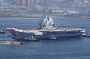 Tegang dengan AS, Kapal Induk Pertama Buatan China Latihan Perang