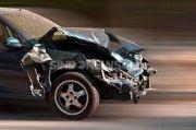 Kecelakaan di Tol JORR KM 51, Dua Kendaraan Rusak Parah