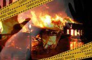Ditinggal Ngopi, Bengkel Sitepu Terbakar Sambar 4 Rumah Tetangga