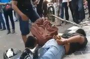 Pencuri Tas Bergulat dengan Korban, Nyaris Tewas Digebuk Warga