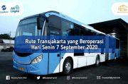 Catat, Ini Rute Transjakarta yang Beroperasi Senin 7 September 2020