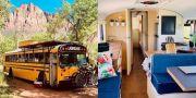 Bus Sekolah Tak Terpakai Disulap Jadi Hotel Berjalan