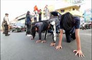 Bandel di Tempat Umum, Sejumlah Pemuda di Bandar Lampung Disanksi