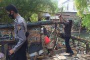 Petugas Gabungan Bongkar Puluhan Lapak PKL di Bantaran Kali Trembesi Pademangan