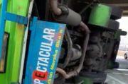 Bus Sahabat Terbalik di Tol Cipali, Korban Masih Dievakuasi