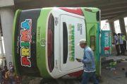 Bus Sahabat Terguling di Tol Cipali, Korban Tewas Terindentifikasi
