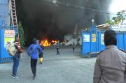 Pabrik Suku Cadang di Lamongan Terbakar Hebat, Para Buruh Panik