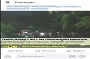 Viral, Beredar Video Balap Lari Malam Hari di Jalan Raya, Saat Pandemi