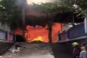 Alami Gangguan Jiwa, Pria Ini Bakar GOR Sabuari Bandar Lampung