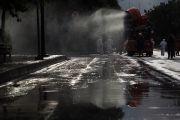Damkar Jakarta Timur Semprot Disinfektan di 6.069 Lokasi