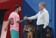 Pesan Tersirat Jabat Tangan Messi-Koeman