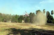 Helikopter BNPB Jemput Sampel Swab 62 Anggota TNI dari Sumba Timur