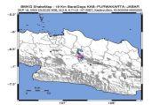 Gempa Tektonik Magnitudo 2,9 Guncang Barat Daya Purwakarta