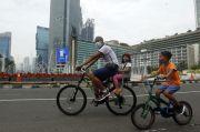 Satu Minggu Penerapan PSBB Ketat, Kawasan Sudirman Sepi Pesepeda