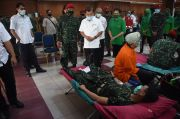 Peringati HUT ke 75 TNI, Kopassus Bersama PMI Gelar Donor Darah
