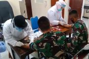 Pastikan Sehat, 61 Prajurit TNI Dirapid Test Sebelum ke Lokasi TMMD