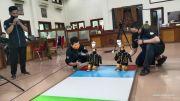 Kontes Robot, UMS Kirim Robot Penyemprot Disinfektan dan Pemadam