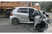 Yaris vs Truk, Seorang Anggota Polisi Jadi Korban
