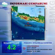 Hari Ini Giliran Pangandaran Diguncang Gempa 4,2 SR