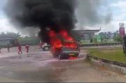 Usai Isi BBM di SPBU, Angkutan Umum Terbakar Hebat
