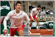 Bahasa Tubuh Satire Novak Djokovic di Roland Garros 2020