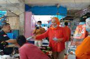 Dengar Aspirasi Pedagang, Anir Blusukan di Pasar Pangkajene