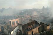 Api Berkobar di Pasar Bawah Lahat, 61 Bangunan Terbakar