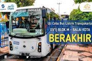 3 Bulan Berlalu, Uji Coba Bus Listrik Transjakarta Berakhir