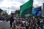 Aksi Massa Tolak Omnibus Law di Petigaan UIN Yogya Aman dan Tertib