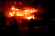 Api Melalap Pasar di Mempawah, 13 Ruko Ludes Terbakar